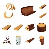 Isolated Object Of Signboard  And Wood Symbol. Set Of Signboard  And Wooden Vector Icon For Stock. poster