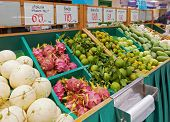 Fruit and vegetables in thailand shop - asian marketplace