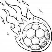 Flaming soccer sketch