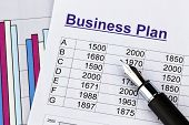 the business plan for a company or business establishment. planning a young entrepreneur.