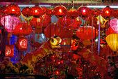 Storefront Display Of Chinese New Year Lanterns