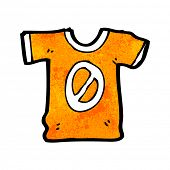 cartoon number zero sports shirt