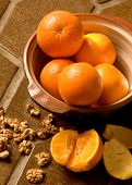 Oranges In A Bowl On Spanish Tile