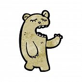 cartoon yawning bear