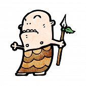 Cartoon primitiven Stammesangehörige