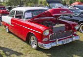 1955 Chevy Bel Air Red & White