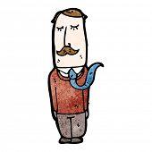 hombre sensato de dibujos animados