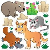 Australische Tierwelt-Fauna-set 1 - Vektor-Illustration.