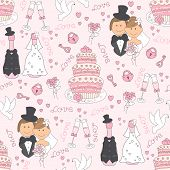 Wedding seamless pattern.
