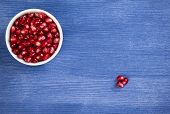 Pomegranate Seeds In A Pipkin