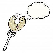 cartoon doughnut on fork
