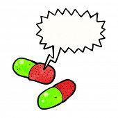 cartoon medical pills