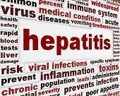 image of hepatitis  - Hepatitis medical poster concept - JPG