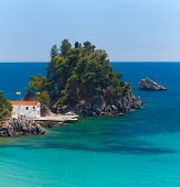 Panagia island in Parga Greece
