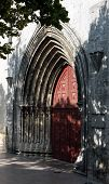 picture of carmelite  - Portal of ruins of Carmelites Cathedral in Lisbon Portugal - JPG