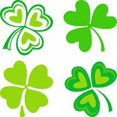 stock photo of triskele  - Isolated green ornamental Irish symbols  - JPG