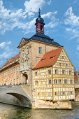 picture of regnitz  - The historic town hall of Bamberg Bavaria Germany - JPG