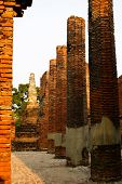 Buddha Status And Temple In Ayutthaya Historical Park
