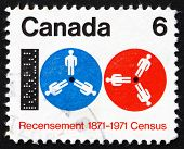 Postage stamp Canada 1971 Computer Tape and Reels