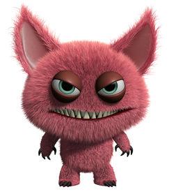 pic of gremlins  - 3 d cartoon cute furry gremlin monster - JPG