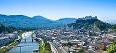 Panorama da cidade de Salzburgo