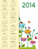 Cute Calendar On 2014 Year