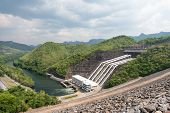 Large Hydro Electric Dam In Thailand