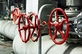 Red Safety Valves.