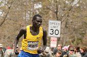 Boston, Ma 04 20 2009 Evans  Cheruiyot Races Up Heartbreak Hill During The Boston Marathon Finishing