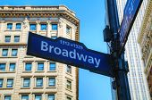 stock photo of broadway  - The Broadway sign in New York City - JPG