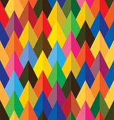 pic of color geometric shape  - seamless abstract colorful background of cones or triangle shapes - JPG