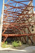 foto of outer core  - Steel structure to support the House facade in the district Raval in Barcelona - JPG