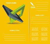 Brochure Design  With Orthogonal Rhomb Symbols.