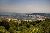 Santa Luzia Hill. Viana Do Castelo And Lima River View, Portugal