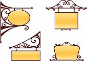 pic of wrought iron  - Vector wrought iron signs for old - JPG