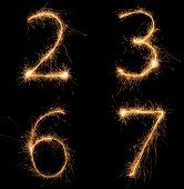 Sparkle numbers set