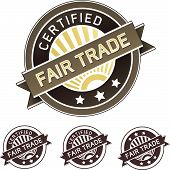 Certified Fair Trade Product Label Sticker