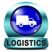 Logistics freight transportation import and export in international trade and global transport