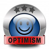 optimism icon positive thinking a positivity attitude leads to a happy life and mental health