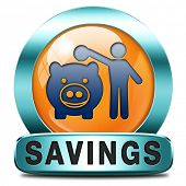 saving money orange icon in piggy bank deposit account with savings plan save cash online banking