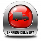 express delivery shipping online order from internet red  webshop web shop icon