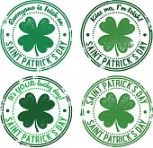 Vintage St. Patrick's Day Rubber Stamps
