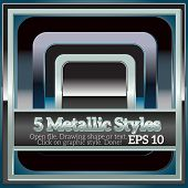Set of 5 Metallic Styles for Design