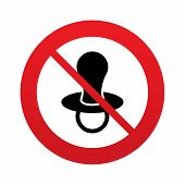 Baby's dummy sign icon. Child pacifier symbol.