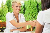 Business Meeting Handshaking
