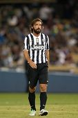 LOS ANGELES - AUGUST 3: Juventus M Andrea Pirlo during the 2013 Guinness International Champions Cup