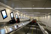 BEIJING, CHINA - APR 5: Beijing subway interior on April 5, 2013 in Beijing, China. Beijing subway s
