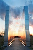 NEW JERSEY - MARCH 20: Empty Sky Memorial at sunset on March 20, 2013 in New Jersey. It is the offic
