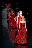 NEW YORK-FEB 6: Annasophia Robb and Ireland Baldwin on the runway at The Heart Truth Red Dress Colle