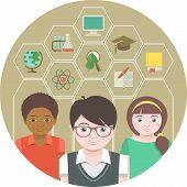 Kids and School Symbols